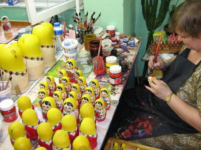 Фабрика хохломской росписи